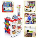 Супермаркет игры малышей пластичный домашний с игрушкой блока развертки