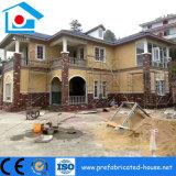 Chalet de lujo de la estructura de acero con la tarjeta fuerte del cemento de Alc como panel de pared