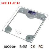 Échelle carrée en verre claire de poids corporel