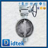 Valvola a farfalla manovrata mediante ingranaggi saldata estremità della prova di Didtek 100%