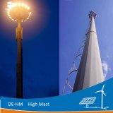 1000W 18m/20m/30m HPS poligonal sistema elevador de mástil redondo Lámpara de alta