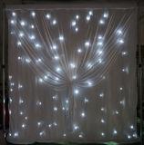 LEDの背景幕DJは販売のための結婚式の装飾の白色光のカーテンをおおう