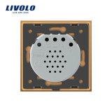 Livolo EU-Standardkristallglas-Panel-Türklingel-Noten-Schalter Vl-C701b-13