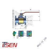 Norma DIN/ANSI Cast/Ferro Dúctil a extremidade do flange da válvula esférica com redução/Full Bore