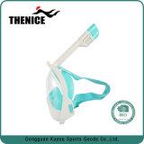 Máscara de mergulho com snorkel seco com Suporte de câmara subaquática 180 Graus face inteira
