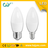 lâmpada da vela do diodo emissor de luz de 3W 240lm E27 (CE RoHS)