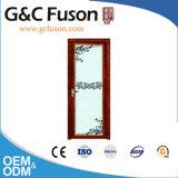 Estrutura de alumínio de qualidade superior em vidro temperado Portas Casement duplo