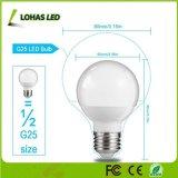 Saída de alta branca suave 6W E26 60W equivalente incandescente Lâmpada Globo de LED