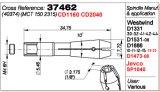 SGS를 가진 스테인리스 PCB 1686-10 스핀들 40374 콜릿