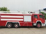 6X4 Sinotruk HOWO 트럭 20 톤 물 유조선 거품 소방차