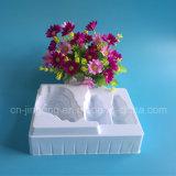 Plateau blanc d'ampoule de PVC pour le plateau en plastique d'ampoule réglé par produits cosmétiques