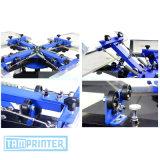 6 печатная машина шелковой ширмы станции цвета 6 для карточек PVC Pollows мешков теннисок