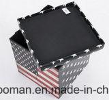 Tabouret pliable en cuir de mémoire de PVC pour l'usage à la maison