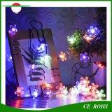 太陽ストリングライト屋外のテラスのクリスマス・パーティの結婚式の寝室の装飾のために防水マルチカラーモモの花園の太陽豆電球50LED