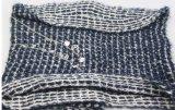 Aquecedor feito malha acrílico da garganta do inverno, acessório de forma do lenço da forma