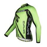 Зеленый Cool спортивной моды Топс мужчин в гильзу на велосипеде Джерси