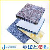 Panneau en aluminium de nid d'abeilles de modèle de granit spécial de pierre pour des matériaux de construction