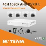 4CH jogo da câmera do CCTV da lente 2MP 1080P da abóbada 6mm