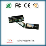 Tarjeta de felicitación video de la tarjeta del LCD del surtidor del folleto