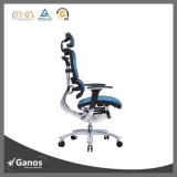 Оптовая торговля хром металлический эргономичный стул для офиса ячеистой пластиковой блока переключателей на подлокотнике высокое Back Office кресло