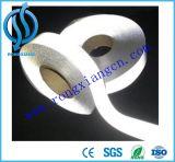 Tissu r3fléchissant de bande de bande de couleur argentée élevée pour des vêtements de sûreté de gilet de sûreté