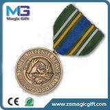 Heiße Verkaufs-kupferne Metalladler-Medaille mit Farbband