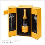 Cartón / papel rígido de encargo del arte del vino caja de regalo para la Promoción y Publicidad