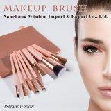 8PCS / Set Maquillage du visage brosse cosmétiques avec cuir PVC