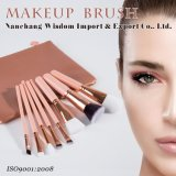 8pcs / set de cosmética facial compone el kit de cepillo con piel de PVC