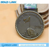Le métal fait sur commande de médaille ouvre le médaillon militaire de souvenir de médailles d'armée