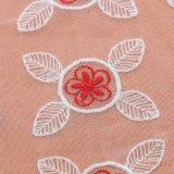Chiffon pieghettato increspato sgualcisce il tessuto del merletto del ricamo per il doppio Saree del progettista di colore