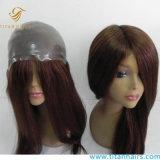 Dünne Haut V Loop Front 100% Virgin Human Hair Toupee Für Frauen