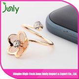 De eenvoudige Gouden Ring van het Ontwerp van de Ring van de Vinger van Dames Gouden