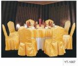 Pano de tabela do restaurante do poliéster e tampa da cadeira