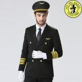 Uniforme pilote blanc de la chemise 100%Cotton Anti-Rétréci par coutume