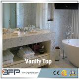ホテルまたは商業プロジェクトのための白い人工的な石造りの水晶浴室の虚栄心の上