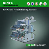 2つのカラー自動プラスチックフィルムのフレキソ印刷の印刷機機械
