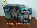 Rhinocéros bleu 7 pillules empaquetant le cadre et les cartes 3D/bouteille de capsule avec le chapeau bleu en métal