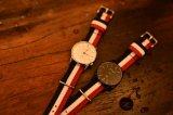 Cassa di acciaio inossidabile e vigilanza giapponese del cronografo automatico del movimento 5ATM della cinghia