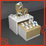 Escaparate de madera de la visualización de los zapatos del estante de visualización de los zapatos