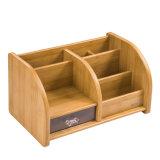 Multi suporte de madeira funcional do armazenamento com gaveta