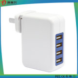 De Lader van de vierling USB AC met Afneembare (Maximum) Stop 4A