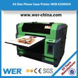 Größe des preiswertester Preis-Flachbett-UVdrucker-A3, UVtelefon-Kasten-Drucker