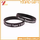 Kundenspezifischer Form-GummisilikonWristband für Förderung-Geschenk (YB-w-005)
