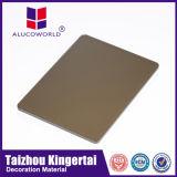 Material de construcción de aluminio incombustible del panel de pared interior de Alucoworld ACP