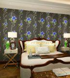 Papel pintado de lujo de la obra clásica del damasco de la capa decorativa de la pared interior