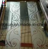 Placa gravada luxuosa da folha do projeto do aço inoxidável para o elevador