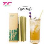 Personnalisable réutilisable de bambou naturel organique biodégradable Paille définie avec boîte de papier