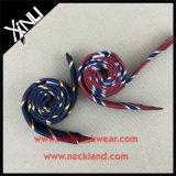 100% hecho a mano de seda de lino tejida Blend flaco corbata para los hombres