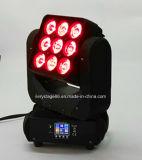 9PCS 10W LED 광속 세척 이동하는 맨 위 매트릭스 점화